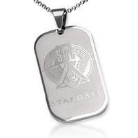 steel sliding gate - Bahamut SGC Stargate Star GATE Tags Necklace Pendant for Men Titanium steel Movie Jewelry