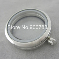 Cheap Wholesale-shipping soon New mold Floating locket charms 30mm,round glass locket for floating charms,no chains
