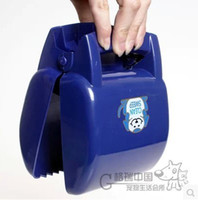 Wholesale portable pooper scooper pets Dog cleaner Clip the dog will pick up dog feces green folder Cats GM