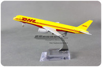 aircraft boeing - cm Airplane Model Yellow DHL Airways Boeing B757 Airways Aircraft Jetliner Alloy Plane Model Diecast Souvenir Vehicle Toy