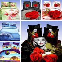 Cheap Wholesale-marilyn monroe bedding sets 3d bedclothes black duvet cover sets king queen size bed linen bed sheet sets bed set#H28-01