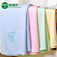 Cheap Wholesale-New 2015-1PC 130*130cm Bamboo blanket Kids Blanket Throw rugs,bedding set,diamond plaid blanket MMY Brand Free shipping
