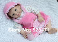 Cheap Wholesale-22 inch high Ultra simulation baby dolls reborn baby doll handmade toys silicone vinyl baby doll