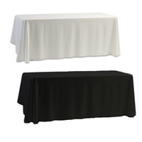 banquet table covers - Tablecloth Table Cover White amp Black for Banquet Wedding Party Decor x145cm