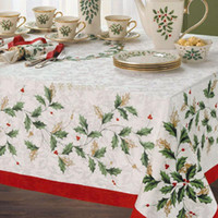 lenox - Christmas Lenox holiday Leave pattern fabric table cloth rustic tablecloth cm