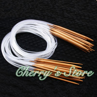 Wholesale New quot quot quot quot quot pairs Sizes Carbonized Circular Bamboo Knitting Needles Crafts Yarn