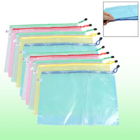 Wholesale 10 Netting Decor Surface A3 Document File Holder Zipper Bag Assorted Color