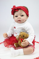Cheap Lovely 22 Inches Silicone Reborn Baby Dolls Realistic Hobbies Handmade Baby Alive Doll For Girls Safe Classic Toys