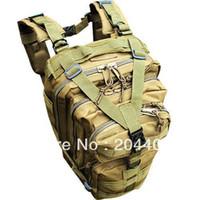 Wholesale Outdoor Sport Tactical Military Tan Color Rucksacks Backpack Camping Hiking Trekking Bag Airsoft