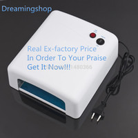 Wholesale Time limited Real Nail Dryer w White Uv Lamp v Gel Curing Nail Art eu Plug with nm Bulb