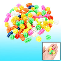 Cheap 80 Pcs Multicolor Cylindrical Oval Shape Plastic Bicycle Spoke Beads