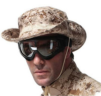 military hats and caps - Desert Camo Fishing Jungle Military Cap Boonie Hat With Four Screened Side Vents and Branch Loops