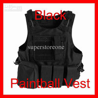airsoft vest - Hot Hunting New Airsoft MOLLE Nylon Combat Paintball Clothes Tactical Vest Black Outdoor Products