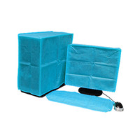 computer monitors - Blue LCD Computer Monitor Screen Keyboard PC Fabric Dust Cover Cap Inch