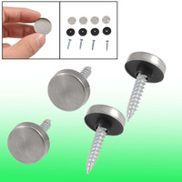 Wholesale 4 mm Dia Stainless Steel Cap Cover Decorative Mirror Screws