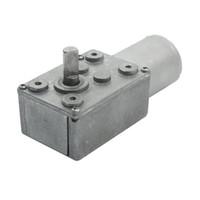 worm reducer - 6mm Shaft RPM Reduction Ratio Speed Reducer Worm Gear Motor DC V