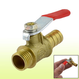 Wholesale 1 Inch PT Male Thread to mm Barb Hose Lever Handle Brass Ball Valve