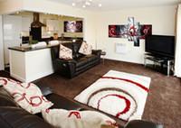 achat en gros de paon peinture sur toile-Peint à la main 5 morceaux noir blanc rouge moderne abstraite peinture à l'huile sur toile décorations de paon de mur d'art pour la maison (pas de cadre)