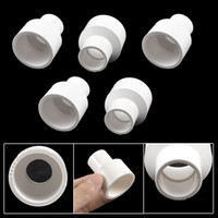 Wholesale 5 Replacement mm to mm PVC Straight Pipe Connector White