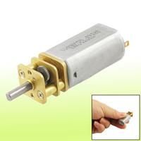 DC Geared Motor dc mini gear motor - 10RPM V mA mm Shaft Mini DC Geared Gear Box Motor for DIY