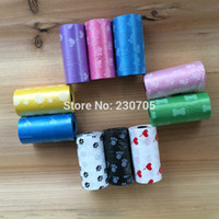 Wholesale Rolls MIX COLOR Biodegradable Dog Waste Poop Bags with nice Printing roll cm pet products