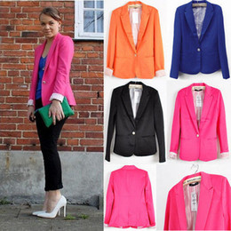 Wholesale Hot Collection Women Fashion Casual Blazers And Jackets Candy Color Business Suits CO064