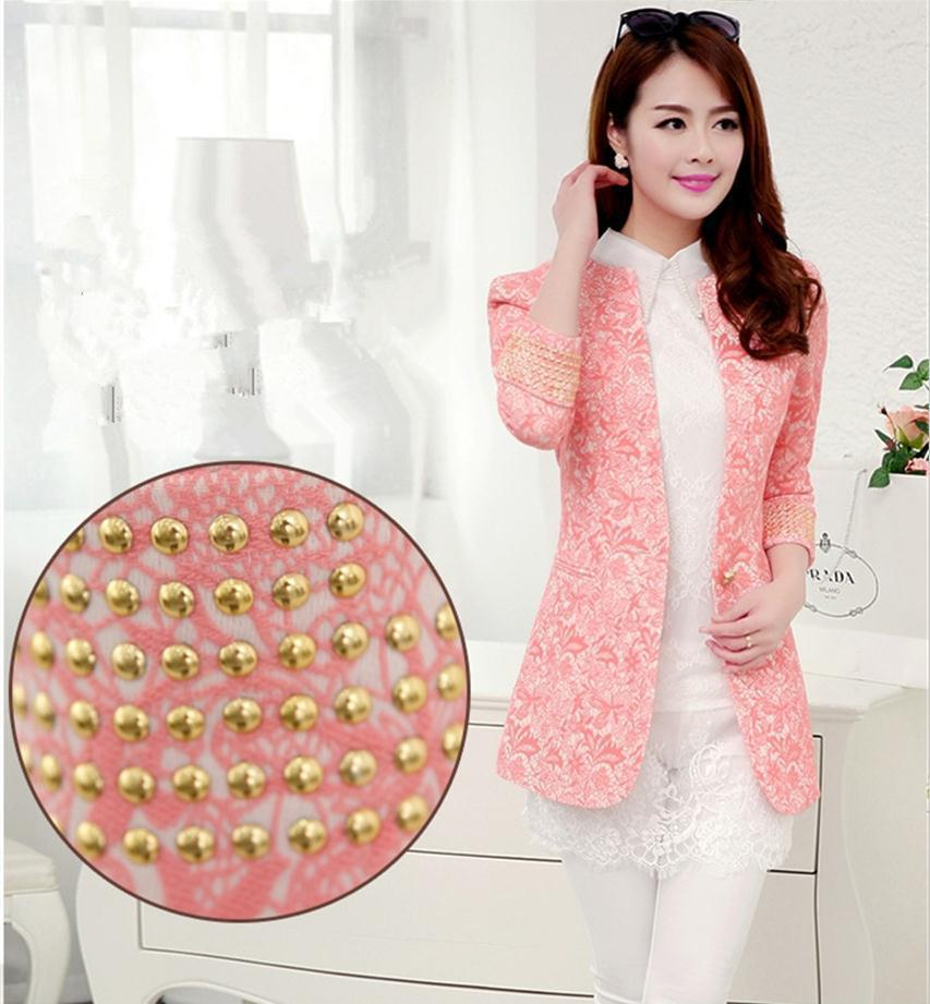 Wholesale Pink Blazer Jacket For Women - Buy Cheap Pink Blazer ...
