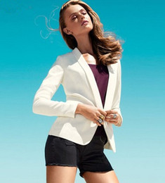 Wholesale-2015 New Fashion Brand Blazer Women Suit Solid Color High Street Jackets Coat Office Lady Business Female Cool Blazers Plus Size
