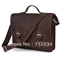 class a bags - A Class CRAZY HORSE Leather Briefcase Hand Made Men s Messenger Bag Laptop Hand Bags R