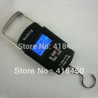 Cheap Wholesale-Digital Electronic Portable LCD Hanging Luggage Travel Fishing Weighing Scale Blue Backlight 50kg*10g