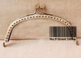 Wholesale Track Ship DIY cm Bronze Color Metal Purse Frame Handle for Bag Sewing Craft Tailor Sewer