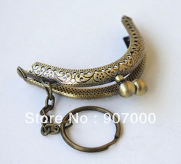 Wholesale Lowest price cm antique bronze metal sewing purse frame handle DIY coin bag parts