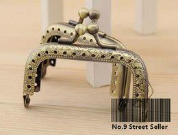 Wholesale Track Ship DIY Mini cm Bronze Color Metal Purse Frame Handle for Bag Sewing Craft Tailor Sewer