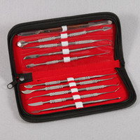 surgical instruments - Set Dental Lab Stainless Steel Kit Wax Carving Tool Set Surgical Dental Instruments Wax Carving Tool Kit