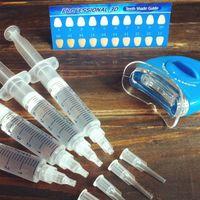 shade guide - Best HP hydrogen peroxide ML teeth whitening kit whitening light D shade guide teeth Oral Hygiene