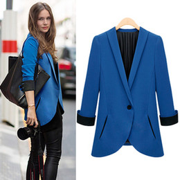 Discount Women Navy Blue Blazer | 2017 Women Navy Blue Blazer on ...