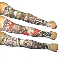 Wholesale hot Fashion Punk Fake Tattoo Sleeves for Men Women Unisex Arm Stockings Warmers style for choose free size