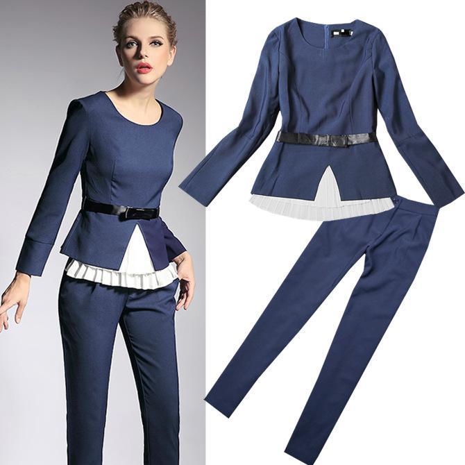 Wholesale-New 2015 European Brand Workwear Women Fall Formal Work ...