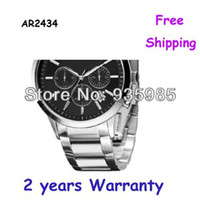 Wholesale New CHRONOGRAPH MENS STAINLESS STEEL AR2434 WITH ORIGINAL BOX