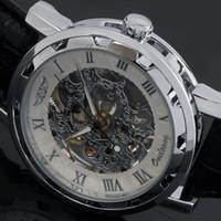 designer watches men - Men Mechanical Hand Wind Watch Leather Strap Wristwatches Fashion Casual Sports Military Designer Sports Watches Luxury Brand