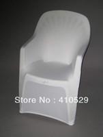 Cheap Wholesale-white Spandex chair covers Free Shipping plastic beach chair chair Arm chair cover
