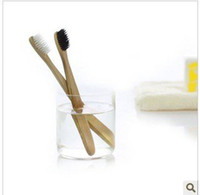 Wholesale Promotion Health bamboo handle brush Eco bamboo charcoal toothbrush