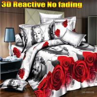 Cheap Wholesale-[Flower Gift]3D bedding sets king size 3d bed linen bedclothes Marilyn Monroe designer 3d bed sheets duvet cover set