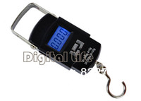 Cheap Wholesale-New 2015 50kg 10g LCD Display Digital Portable Electronic Travel Luggage Fishing Weight Hook Hanging Scale 8830
