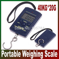 Cheap Wholesale-10 pcs Portable Electronic Hanging Scale Up to 40Kg 40kg 88lb 1,410oz *20g Digital Weight Fishing Hanging Scale