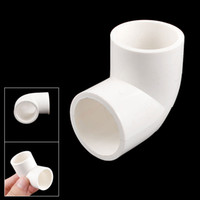 Wholesale 5 x PVC U mm Drainage Pipe Adapter Connector Degree Elbow White