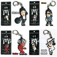 bag phone history - Set of Michael Jackson King of Pop MJ Smooth Criminal Billie Jean Thriller History Key Chain Ring Phone Charm Bag Tag