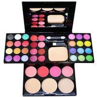 Wholesale Hot Make Up Palette Set Eyeshadow Lip Gloss Foundation Powder Blusher Puff Tool