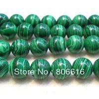 Wholesale mm Round Malachite Beads Natural Stone Loose Strands Jewelry Semi precious