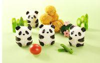 Wholesale Kawaii DIY D Plastic Panda Sushi Mold Rice Ball Maker Sushi Tool Set Seaweed Cutter